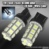 1 PAIR OF 18 SUPER BRIGHT T20 SMD LEDS BULB WHITE