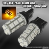 1 PAIR OF 18 SUPER BRIGHT T20 SMD LEDS BULB YELLOW