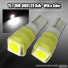 1 PAIR OF 1 SUPER BRIGHT T5 SMD LED BULB WHITE