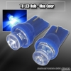 1 PAIR OF 1 FLAT SURFACE T8 SMD LEDS BULB BLUE