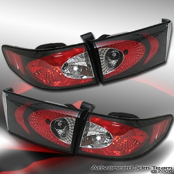 03 04 05 HONDA ACCORD TYC TAIL LIGHTS BLACK 4 DOOR