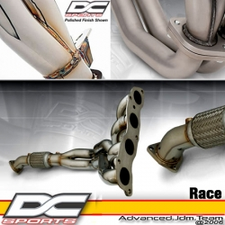 02 03 04 HONDA CIVIC SI 4-2-1 DC SPORTS BRUSHED STAINLESS STEEL HEADERS