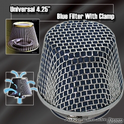 """UNIVERSAL 4.25"""" BLUE FOAM FILTER WITH CLAMP"""