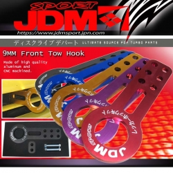 JDM SPORT 9mm Front Tow Hook Kit Red