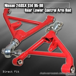 NISSAN 240SX S13 S14 89 90 91 92 93 94 95 96 97 98 REAR LOWER CONTROL ARM Red