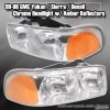 00 01 02 03 04 05 06 GMC YUKON CHROME HEADLIGHTS W/ AMBER TURN SIGNAL LAMPS