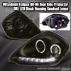 00 01 02 03 04 05 MITSUBISHI ECLIPSE DUAL HALO PROJECTOR DRL LED HEADLIGHTS DARK SMOKED LENS