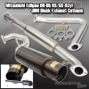 "00-05 ECLIPSE 4CYL JDM BLACK 2.25"" PERFORMANCE CATBACK EXHAUST SYSTEM 4.5"" TIP"