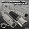02 03 04 05 06 HONDA FIT STAINLESS STEEL CAT BACK with CARBON FIBER MUFFLER