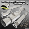 """02 03 04 05 06 RSX NON TYPE-S BASE MODEL PERFORMANCE CATBACK EXHAUST SYSTEM 4.5"""" TIP"""