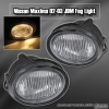 02 03 NISSAN MAXIMA 4DR FRONT DRIVING FOG LIGHTS LAMPS CLEAR LENS