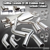 02-06 CADILLAC ESCALADE PERFORMANCE STAINLESS DUAL TIPS CATBACK EXHAUST SYSTEM