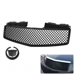 03-07 Cadillac CTS Black ABS Front Upper Bumper Crossweave Mesh 3D Style Replacement Upgrade Grille Grill