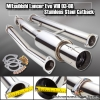 03-08 LANCER EVO 8 MUFFLER CATBACK EXHAUST SYSTEM PIPING 4.5 TIP STAINLESS STEEL