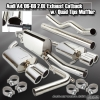 06-08 AUDI A4 BASE 2.0L DUAL STAINLESS QUAD EXHAUST MUFFLER TIP CATBACK SYSTEM