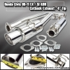 """06-11 CIVIC SI 2DR 4"""" TIP CATBACK EXHAUST SYSTEM 2.5"""" PIPING POLISHED STAINLESS"""
