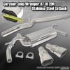 07 08 09 10 JEEP WRANGLER 2DR 3.8L V6 PERFORMANCE CATBACK EXHAUST SYSTEM DUAL TIPS