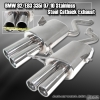 07-2011 BMW 3-SERIES E92 335I COUPE M3 STYLE CATBACK EXHAUST SYSTEM QUAD TIP