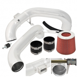 12-14 Honda Civic Dx Lx Ex Cold Air Intake Induction System Polish + Red Filter