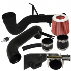 12-15 Honda Civic Dx Lx Ex Cold Air Intake Induction System Black + Red Filter
