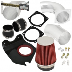 1994-1995 Mustang 5.0L V8 Polish Pipe Cold Air Intake Induction Kit With Filter