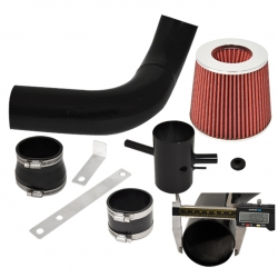 1995-1999 Nissan Maxima Cold Air Intake Induction System Black + Red Filter