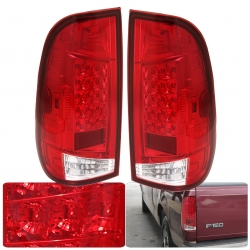 1997-2003 FORD F-150 RED LED TAIL LIGHTS