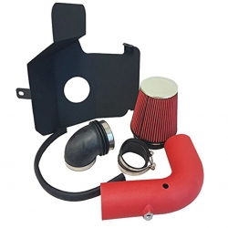 2003-2007 Dodge Ram 2500 3500 5.9L L6 High Flow Induction Air Intake System + Heat Shield + Red Wrinkle Piping Kit