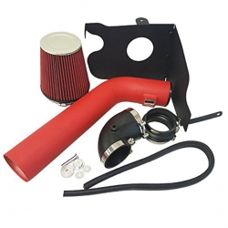 2004-2008 Ford F150 F250 2006-2008 Lincoln Mark LT 5.4L 5.4 Liter V8 High Flow Induction Air Intake System + Heat Shield Red Wrinkle Piping Kit
