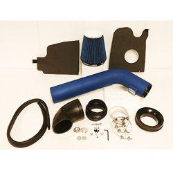 2004-2008 Ford F150 F250 2006-2008 Lincoln Mark LT 5.4L 5.4 Liter V8 High Flow Induction Air Intake System + Heat Shield Blue Wrinkle Piping Kit