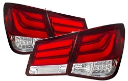 2008-2015 CHEVY CRUZE RED TUBE LED TAIL LIGHTS