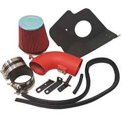 2009-2015 Cadillac CTS-V 6.2L 6.2 Liter V8 High Flow Induction Air Intake System + Heat Shield Red Wrinkle Piping Kit
