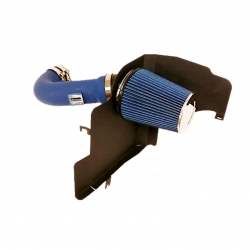 2011-2014 Ford Mustang 5.0L V8 High Flow Induction Air Intake System + Heat Shield + Blue Wrinkle Piping Kit
