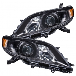 2011-2017 Toyota Sienna Projector Headlights Black Housing Clear Lens Amber Reflector