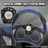 320MM BATTLE STYLE STEERING WHEEL BLACK / BLUE
