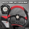 320MM BATTLE STYLE STEERING WHEEL BLACK / RED