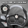 320MM BATTLE STYLE STEERING WHEEL BLACK / GREY