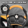 320MM BATTLE STYLE STEERING WHEEL BLACK / YELLOW