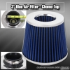 3 inch Universal Filter Chrome Top / Blue Body / Chrome Bottom