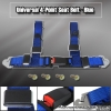 "4POINT UNIVERSAL RACING SEAT BELTS 2"" NYLON STRAP BLUE"