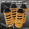 88 89 90 91 92 93 94 95 96 97 98 99 00 HONDA CIVIC JDM ADJUSTABLE COILOVER LOWERING SPRINGS YELLOW W/ SCALE