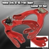 92 93 94 95 HONDA CIVIC ADJUSTABLE FRONT UPPER CAMBER KIT RED