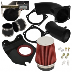 94-95 Mustang 5.0L V8 Performance Cold Air Induction Intake Filter System Black