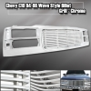 94-98 CHEVY C K 1500 2500 3500 CHROME WAVE STYLE TAHOE SUBURBAN FRONT END CHROME GRILLE 1PC