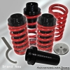 02, 03, 04, 05 HYUNDAI TIBURON JDM ADJUSTABLE COILOVER LOWERING SPRINGS RED W/ SCALE