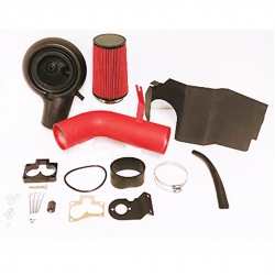 Dodge Durango Dakota 5.2L 5.9L Red Wrinkle Cold Air Intake CAI Induction + Heat Shield + Filter Assembly Piping Kit Replacement Upgrade