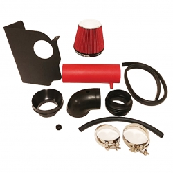 Dodge Magnum Charger Challenger Chrysler 300C 5.7L 6.1L V8 High Flow Induction Air Intake System + Heat Shield Red Wrinkle Piping Kit