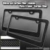 FRONT & REAR LICENSE PLATE CARBON FIBER TAG TRIM COVER LIGHT WEIGHT SLEEK HOLDER