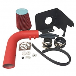 Ford F150 F250 Expedition Heritage Lincoln Navigator V8 5.4L 4.6L 5.4 4.6 Liter High Flow Induction Air Intake System + Heat Shield Red Wrinkle Piping Kit