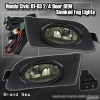 01 02 03 HONDA CIVIC 2DR / 4DR OEM SMOKED FOG LIGHTS w/ WIRING HARNESS